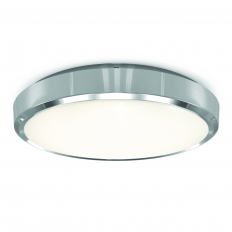 Smart LED Wall and Ceiling Light IP54 Chrome WiFi/BLE