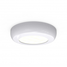 Circle White Cabinet LED
