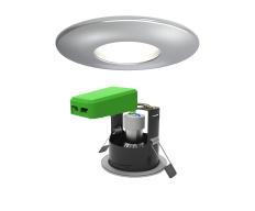 Smart LED IP20 GU10 Fire Rated Downlight Chrome WiFi & Bluetooth