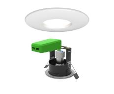 Smart LED IP20 GU10 Fire Rated Downlight Matt White WiFi & Bluetooth