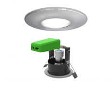 Smart LED IP20 GU10 Fire Rated Downlight Satin Chrome WiFi & Bluetooth