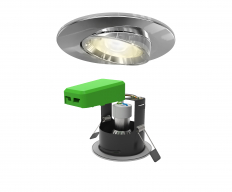 Smart LED IP20 Adjustable GU10 Fire Rated Downlight Chrome WiFi & Bluetooth