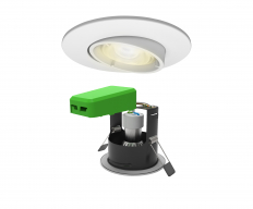 Smart LED IP20 Adjustable GU10 Fire Rated Downlight Matt White WiFi & Bluetooth