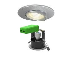 Smart LED IP20 Adjustable GU10 Fire Rated Downlight Satin Chrome WiFi & Bluetooth