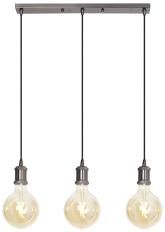 3-way Bar Pendant Blackened Silver with 3 x G125 Amber Filament Smart Bulbs