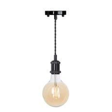 LED Pendant & Bulb Pack G125 Blackened Silver