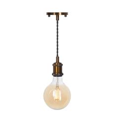 LED Pendant & Bulb Pack G125 Antique Brass
