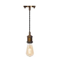 LED Pendant & Bulb Pack ST64 Antique Brass