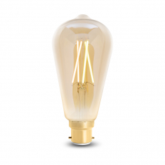 LED Smart ST64 Filament Bulb Amber BC (B22) Tuneable White & Dimmable