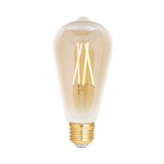 LED Smart ST64 Filament Bulb Amber ES (E27) Tuneable White & Dimmable