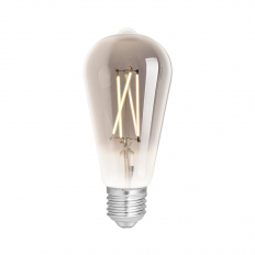 LED Smart ST64 Filament Bulb Smoky ES (E27) Tuneable White & Dimmable