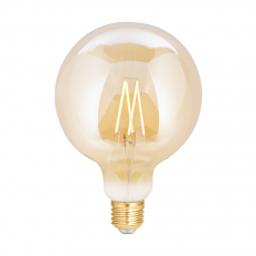 LED Smart Globe G125 Filament Bulb Amber ES (E27) Tuneable White & Dimmable
