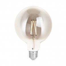 LED Smart Globe G125 Filament Bulb Smoky ES (E27) Tuneable White & Dimmable